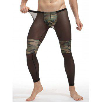 Convex Pouch Voile Camouflage Panel Underpants - Camouflage XL