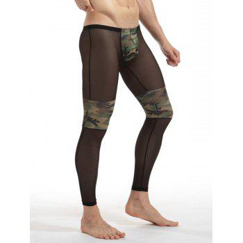 Convex Pouch Voile Camouflage Panel Underpants - Camouflage 2XL