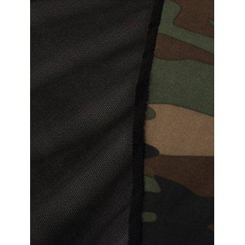 H Back Stretchy Camouflage Voile Panel Bodysuit - Camouflage 2XL