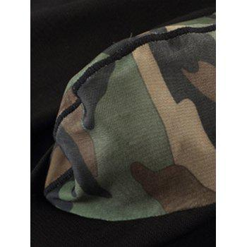 Voile Camouflage Panel Stretchy Suit ( Tank Top + Shorts ) - CAMOUFLAGE M