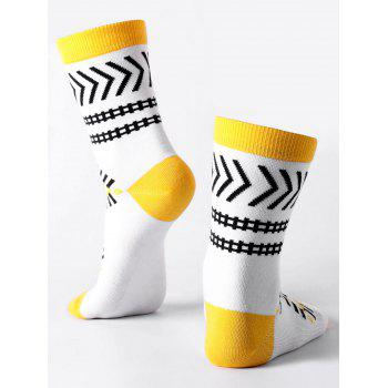 Halloween Geometric Ankle Socks -  WHITE