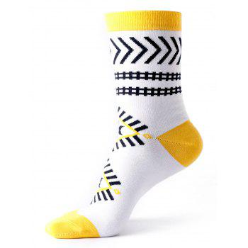 Halloween Geometric Ankle Socks - WHITE WHITE