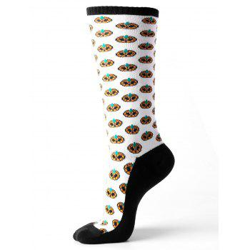 Halloween Small Pumpkins Tube Socks - WHITE WHITE