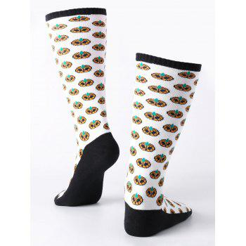 Halloween Small Pumpkins Tube Socks -  WHITE