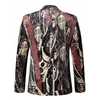 Two Button Oil Painted Velour Blazer - 52 52