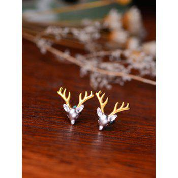 Christmas Reindeer Stud Tiny Earrings - SILVER