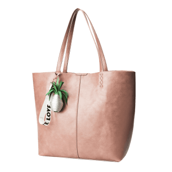 Pendant Pineapple Tote Bag Set - PINK