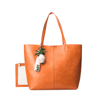 Pendant Pineapple Tote Bag Set -  ORANGE