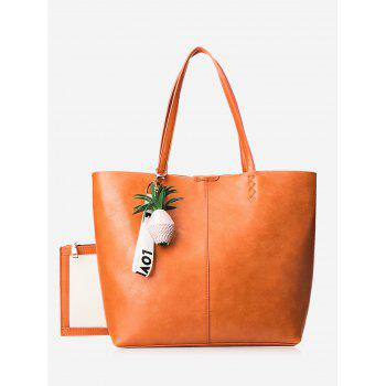 Pendant Pineapple Tote Bag Set - ORANGE ORANGE