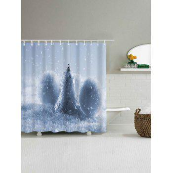 Christmas Snow Ball Waterproof Bath Curtain - W71 INCH * L79 INCH W71 INCH * L79 INCH