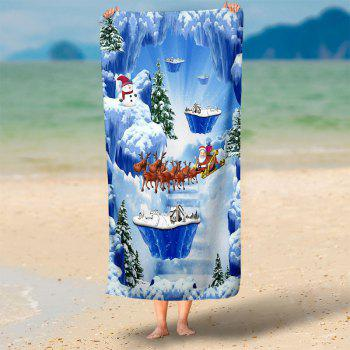 Serviette de bain Magic Snow Scenery Pattern - Bleu 75*150CM