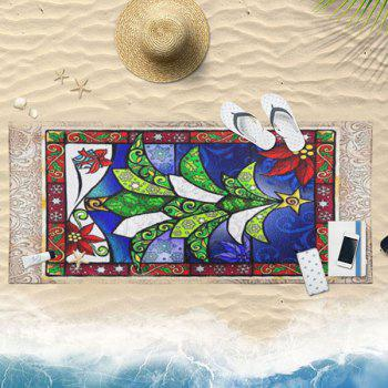 Abstract Christmas Tree Pattern Bath Towel - COLORFUL COLORFUL