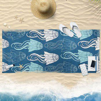Jellyfish Pattern Water Absorption Bath Towel