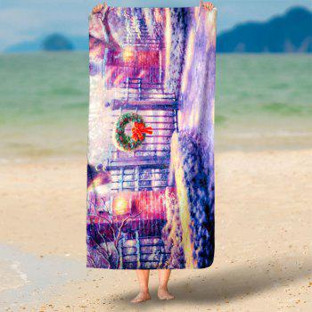 Christmas Graphic Water Absorption Bath Towel - 75*150CM 75*150CM