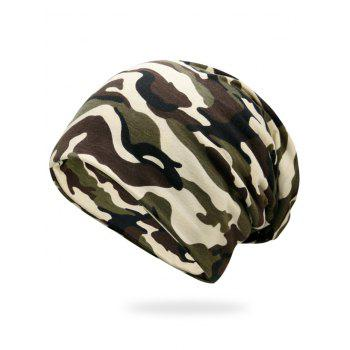 Outdoor Camo Pattern Slouchy Beanie - CAMOUFLAGE CAMOUFLAGE