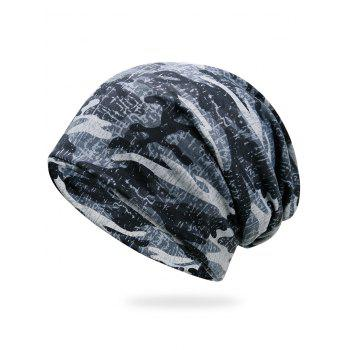 Outdoor Camo Pattern Slouchy Beanie - SNOW-LAND CAMOUFLAGE SNOW LAND CAMOUFLAGE