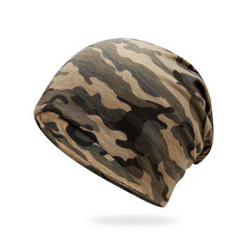Outdoor Camo Pattern Slouchy Beanie - JUNGLE CAMOUFLAGE JUNGLE CAMOUFLAGE