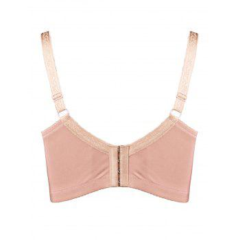 Plus Size Unlined Underwire Full Cup Bra - PINK 3XL