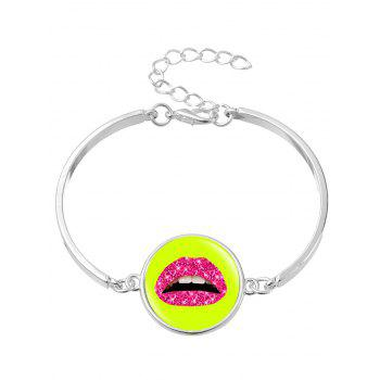 Halloween Lips Round Bangle Bracelet - SILVER SILVER