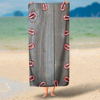 Wood Print Water Absorption Bath Towel - WOOD COLOR 75*150CM