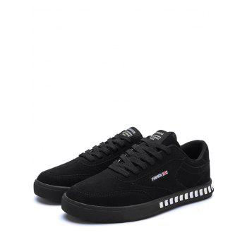 Letter Color Block Stitching Skate Shoes - BLACK 41