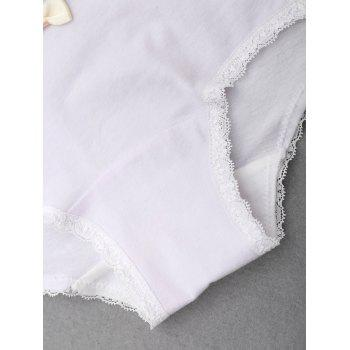 Lace Trim Mid Rise Panties - LIGHT PURPLE LIGHT PURPLE