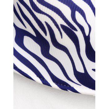 Strapless Zebra Print Push Up Bra - BLUE BLUE