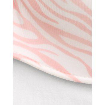 Strapless Zebra Print Push Up Bra - LIGHT PINK LIGHT PINK