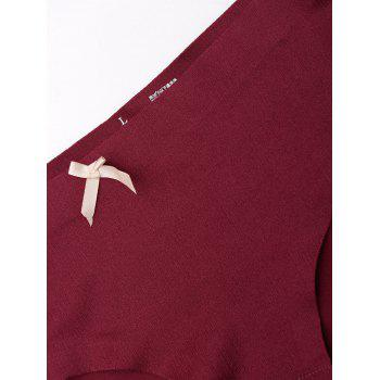 Seamless Mid Rise Panties - WINE RED WINE RED
