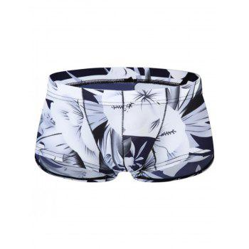 Pouch 3D Florals Print Trunk - WHITE WHITE