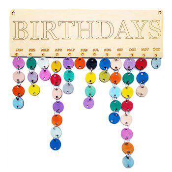 DIY Colorful Wooden Birthday Calendar Wall Hanging - ROUND