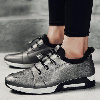 Low Top PU Leather Casual Shoes - FROST FROST
