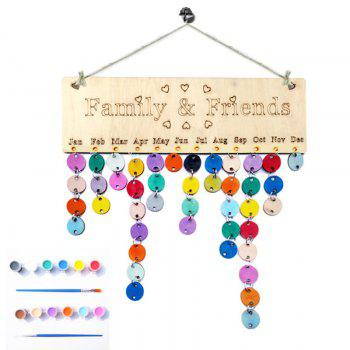 DIY Colorful Wooden Family And Friends Birthday Calendar - ROUND ROUND