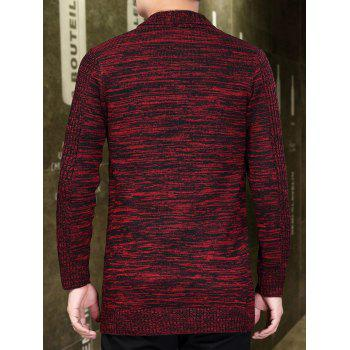 Cardigan Long Ouvert en Avant - Rouge XL