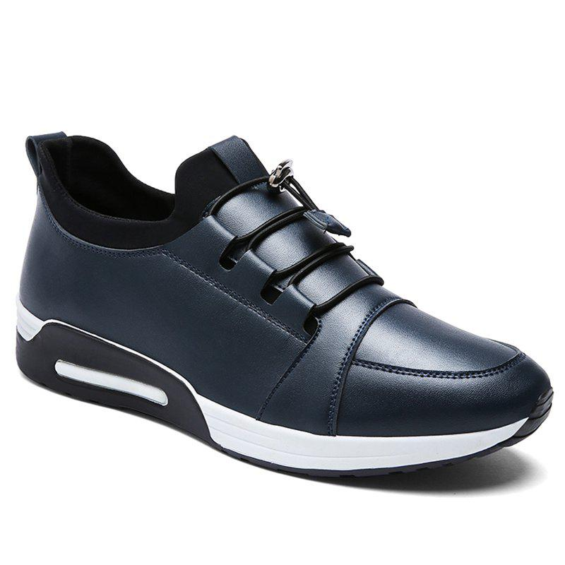 Low Top PU Leather Casual Shoes - BLUE 41