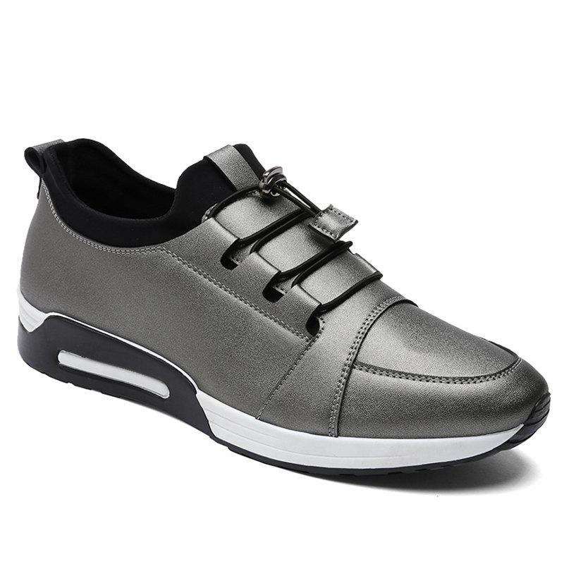 Low Top PU Leather Casual Shoes - FROST 44