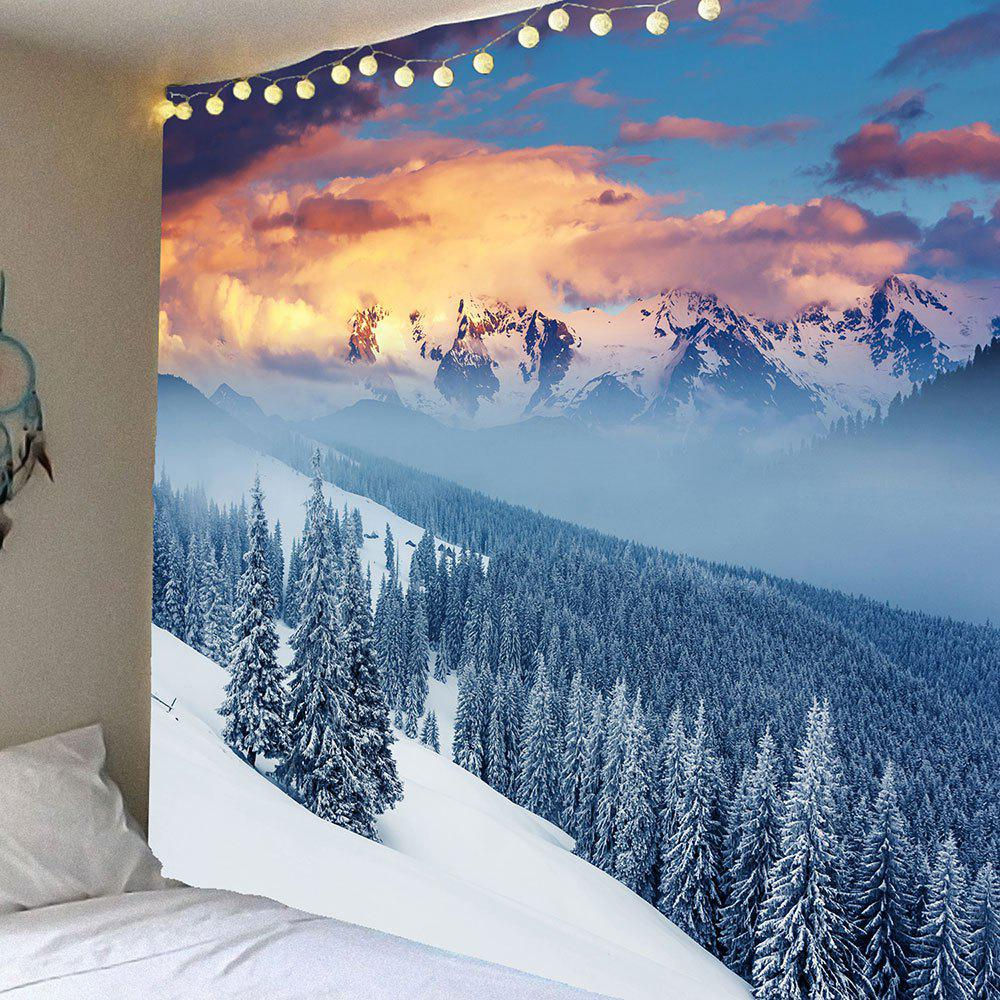 Snow Mountains Forest Pattern Wall Decor Hanging Tapestry fantasy forest hole pattern wall decor tapestry
