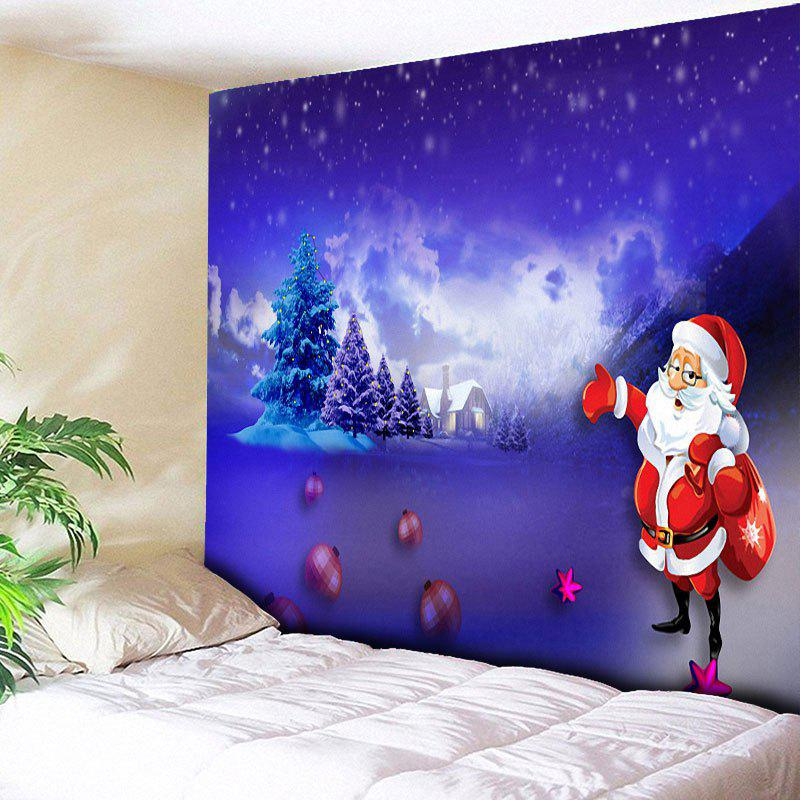 Santa Claus Pattern Christmas Wall Tapestry 5m high big inflatable christmas santa claus climbing wall decoration 16ft high china factory direct sale festival toy