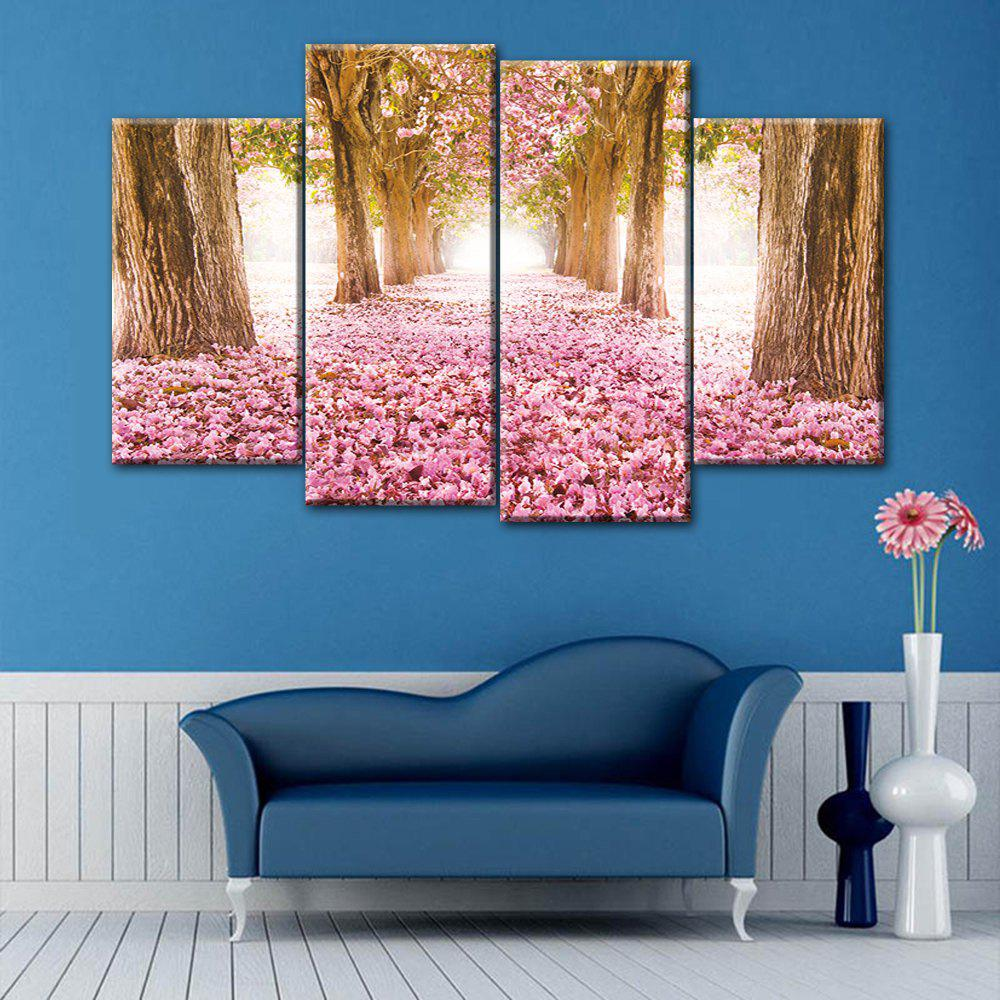 Wall Art Flower Field Print Split Canvas Paintings leopard pattern wall art split canvas paintings
