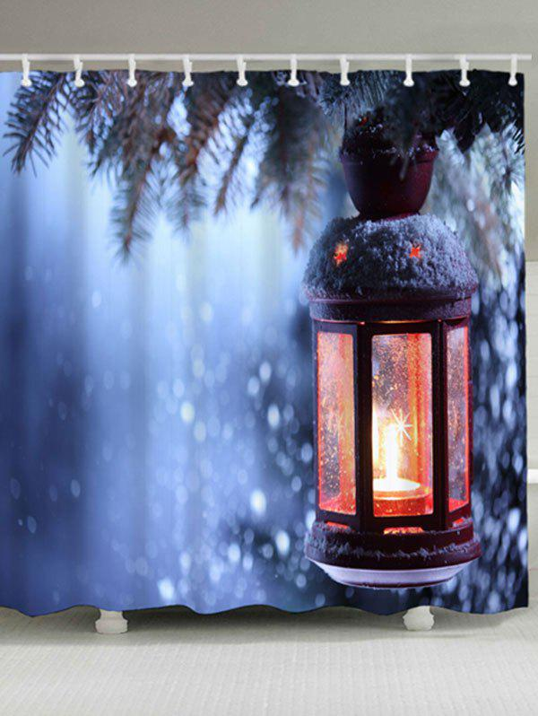 Christmas Candle Waterproof Shower Curtain merry christmas waterproof shower curtain bathroom decoration