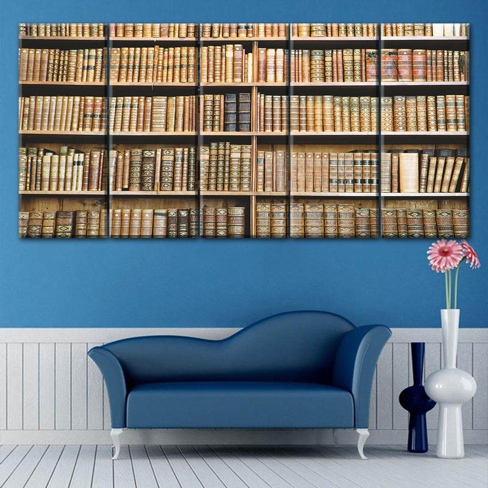 Bookshelf Print Wall Art Split Canvas Paintings leopard pattern wall art split canvas paintings