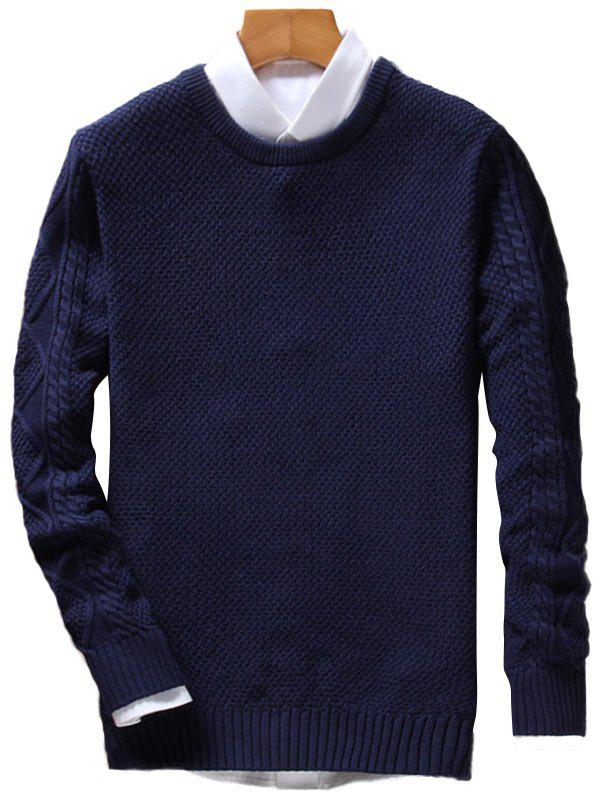 Cable Knit Crew Neck Pullover Jumper pearls beaded cable knit jumper