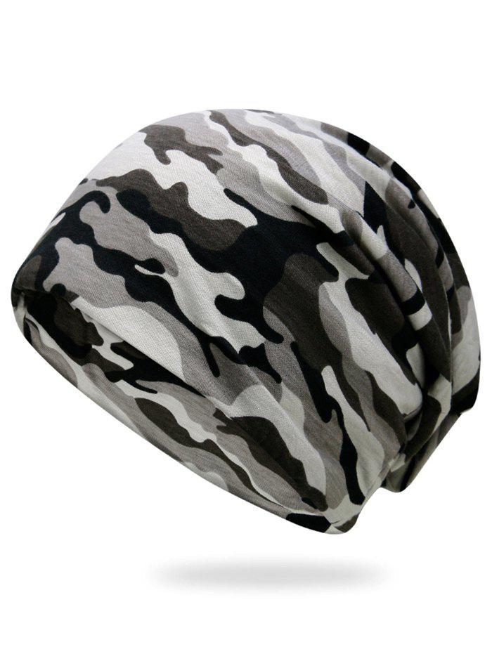 Outdoor Camo Pattern Slouchy Beanie - THREE SAND CAMOUFLAGE