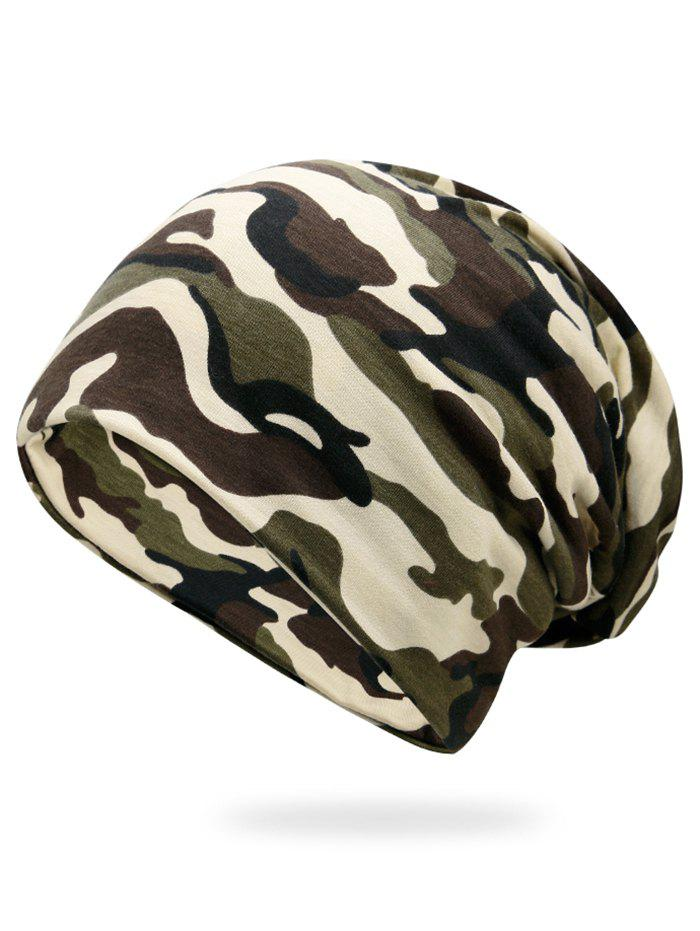 Outdoor Camo Pattern Slouchy Beanie - CAMOUFLAGE