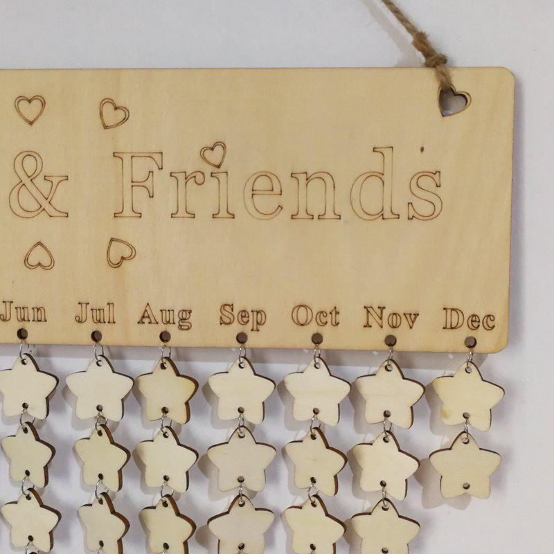 DIY Wooden Family And Friends Birthday Calendar - STAR