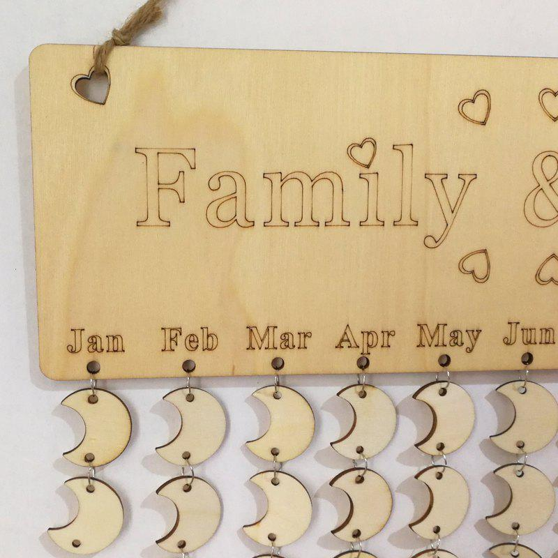 DIY Wooden Family And Friends Birthday Calendar - MOON