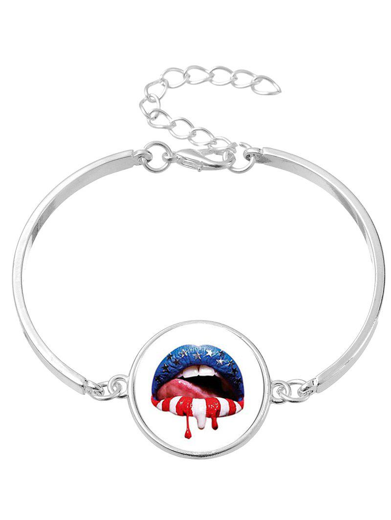 Halloween Blood Star Lips Bangle Bracelet