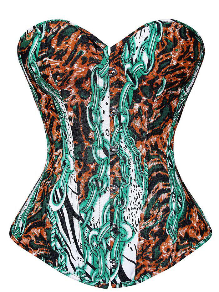 Printed Corset Top - COLORMIX XL