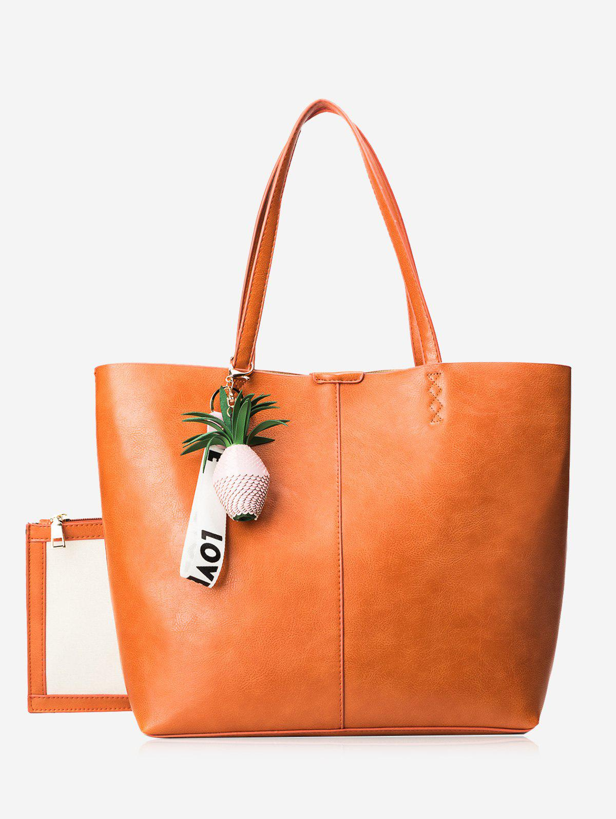 Ensemble de sacs à bandoulière en ananas - Orange