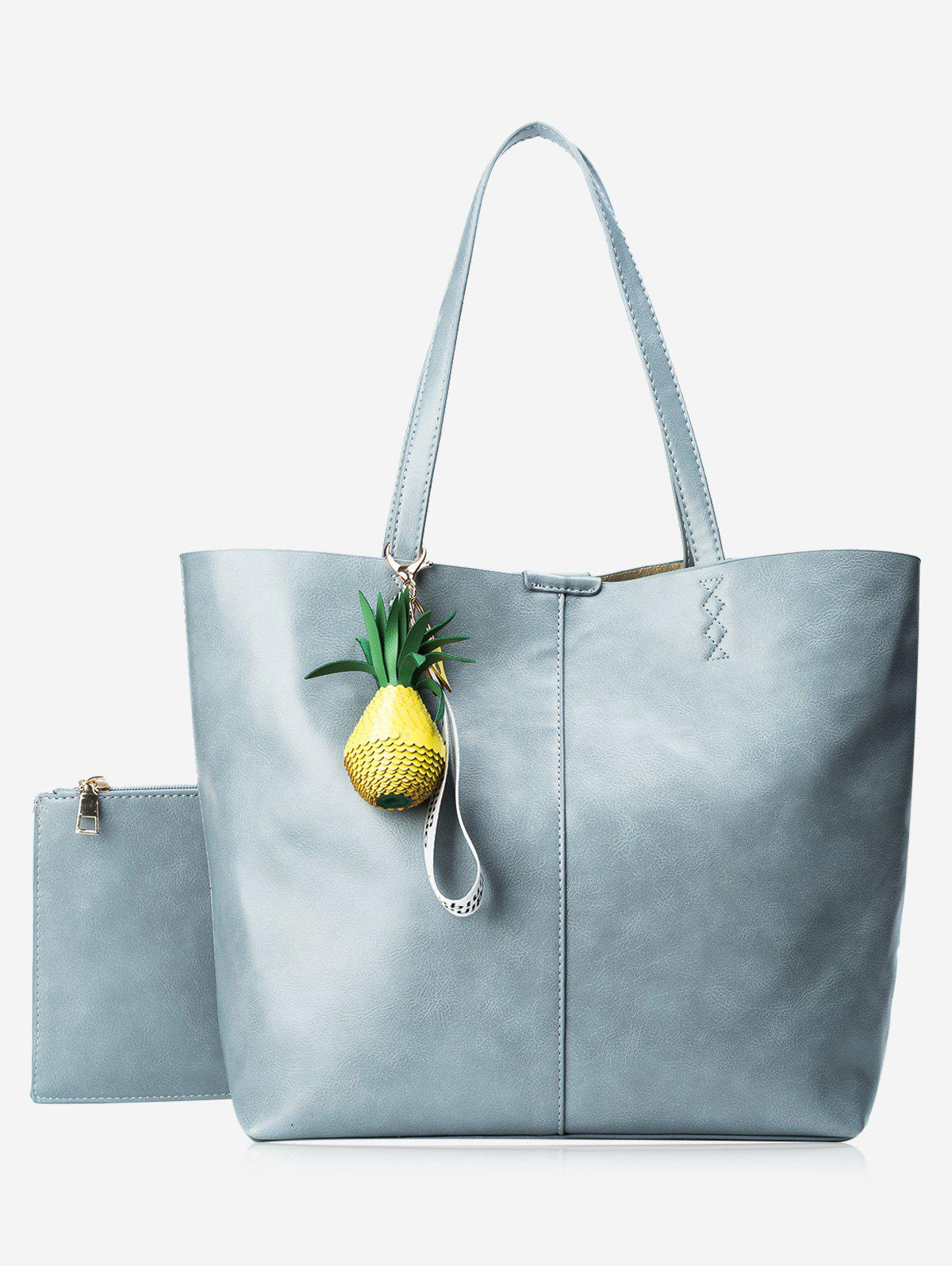 Pendant Pineapple Tote Bag Set - BLUE